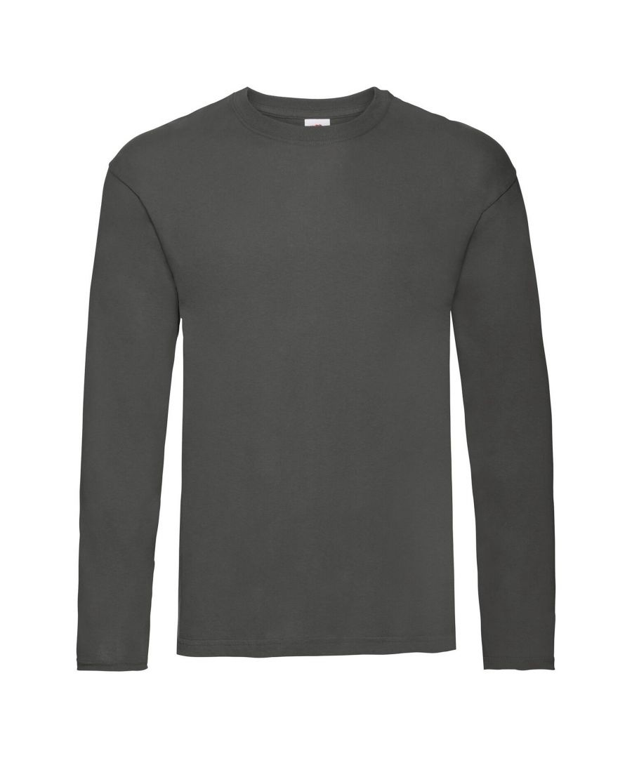 Image for Fruit Of The Loom Mens Original Long Sleeve T-Shirt