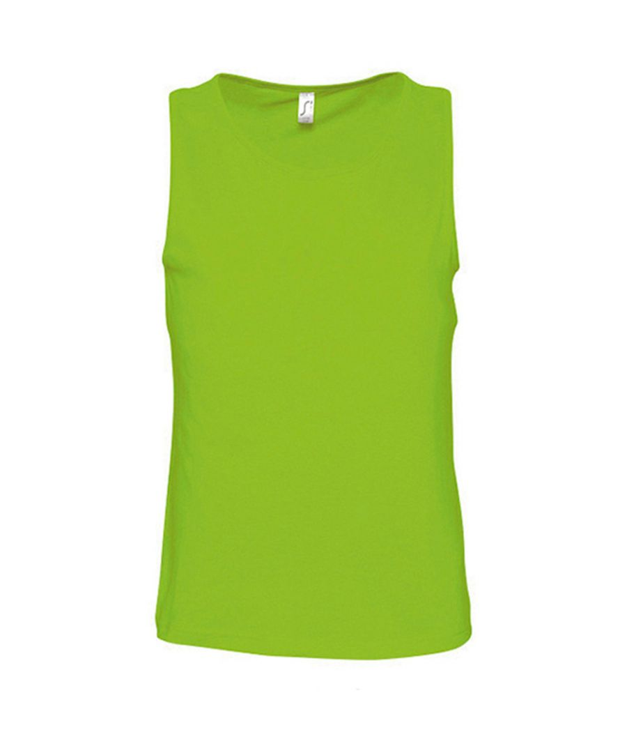 Image for SOLS Mens Justin Sleeveless Tank / Vest Top (Lime)