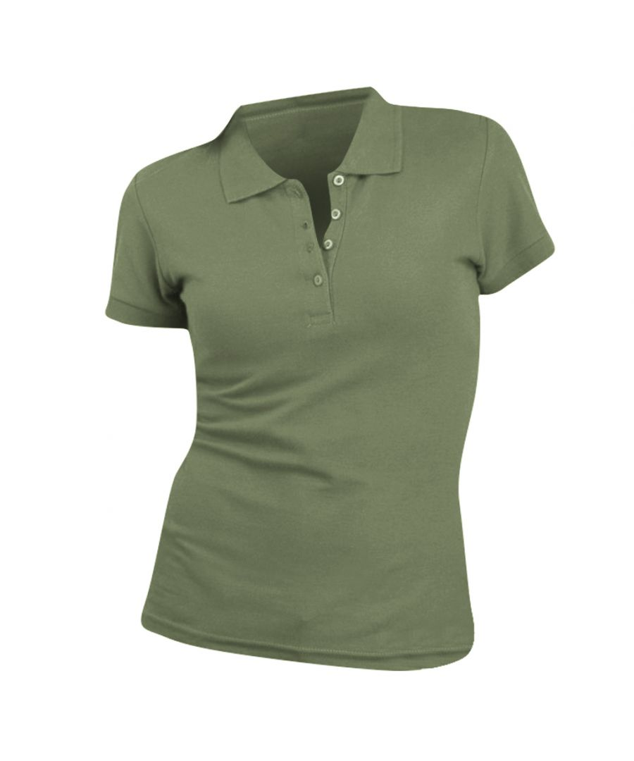 Image for SOLS Womens/Ladies People Pique Short Sleeve Cotton Polo Shirt (Khaki)