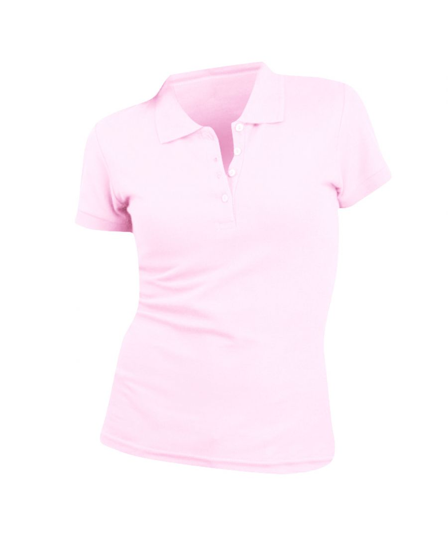 Image for SOLS Womens/Ladies People Pique Short Sleeve Cotton Polo Shirt (Pale Pink)
