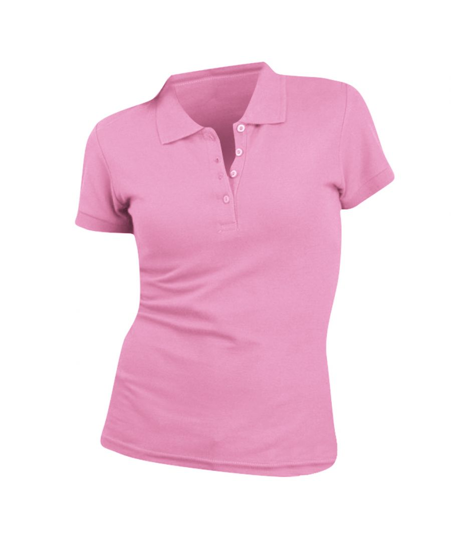 Image for SOLS Womens/Ladies People Pique Short Sleeve Cotton Polo Shirt (Orchid Pink)