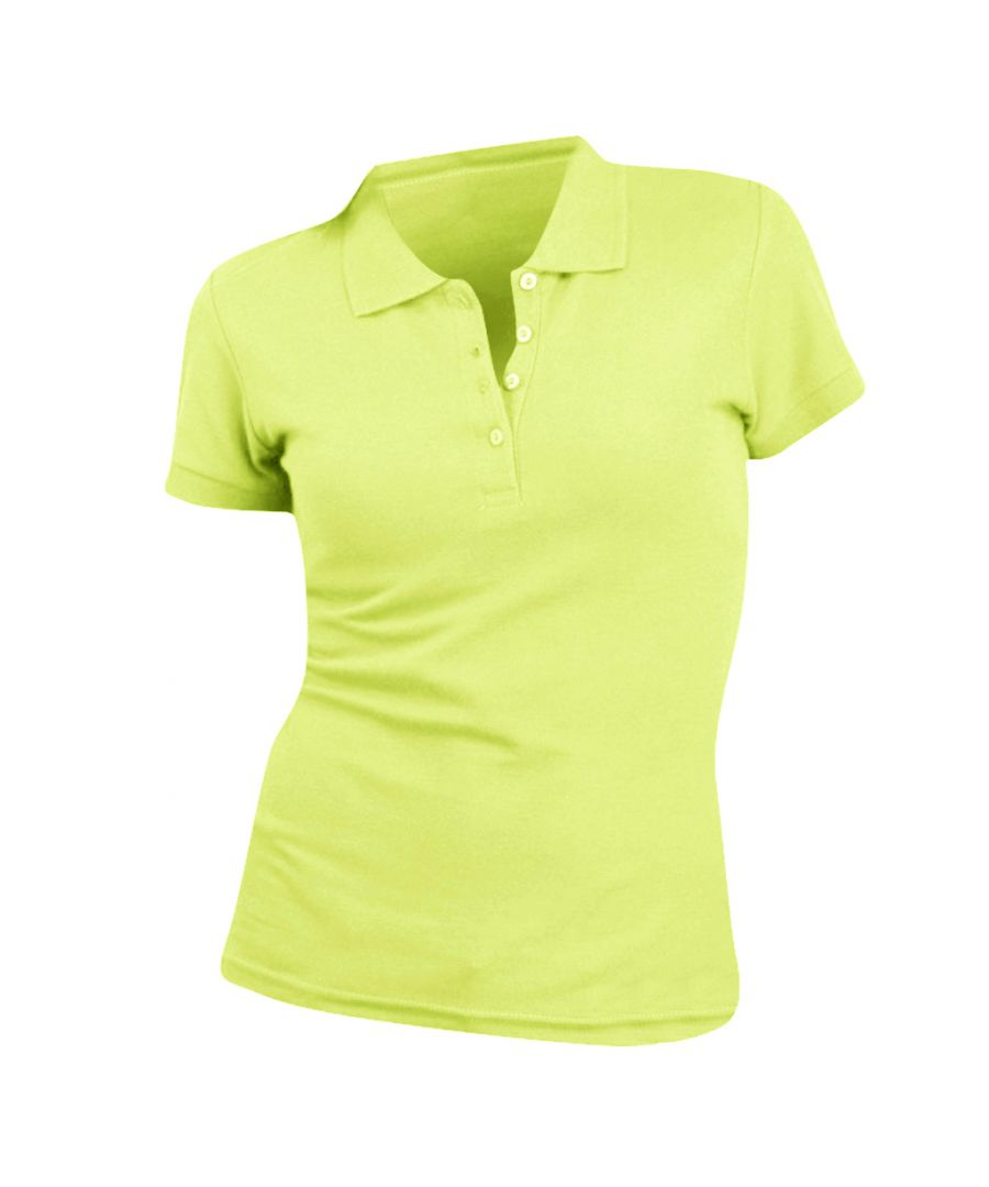 Image for SOLS Womens/Ladies People Pique Short Sleeve Cotton Polo Shirt (Apple Green)