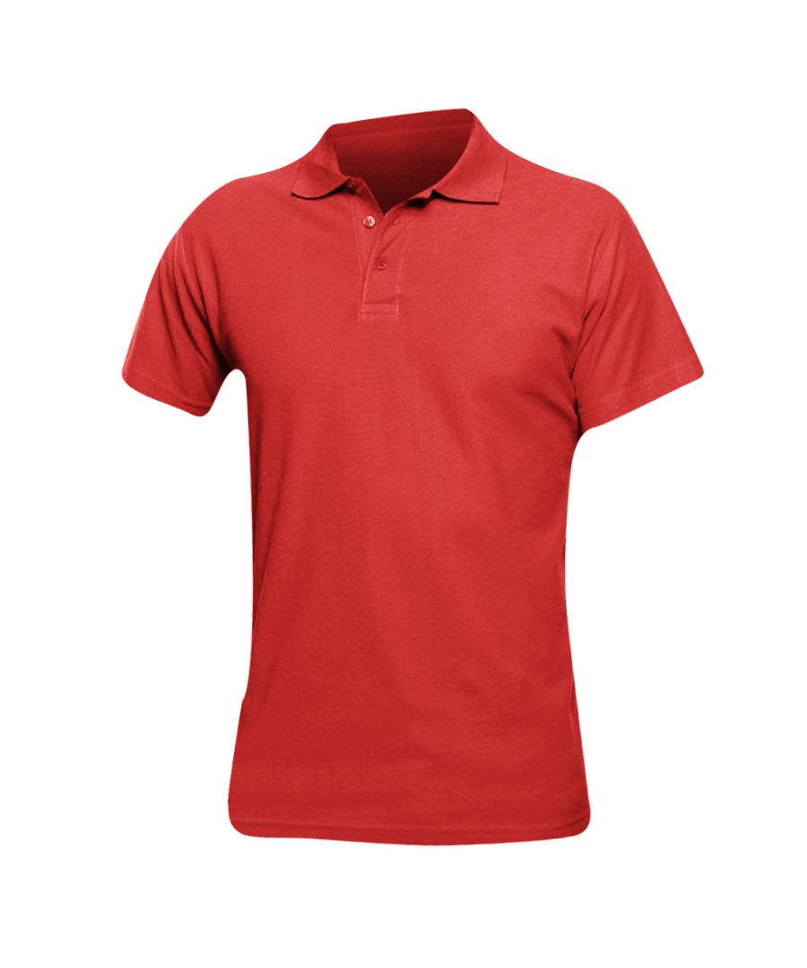 Image for SOLS Mens Spring II Short Sleeve Heavyweight Polo Shirt (Red)