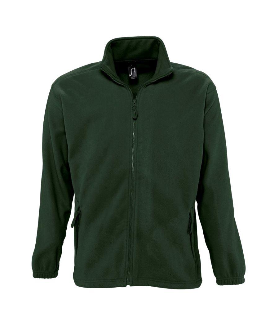 Image for SOLS Mens North Full Zip Outdoor Fleece Jacket (Forest Green)