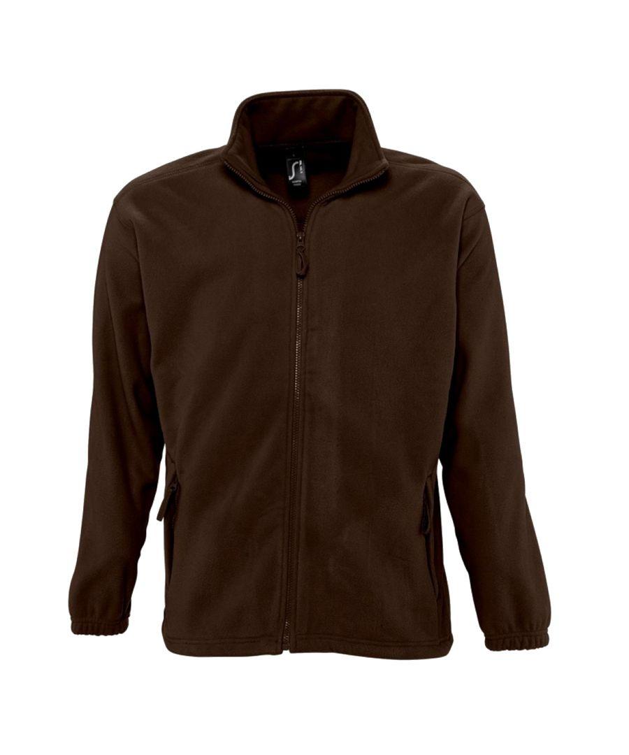 Image for SOLS Mens North Full Zip Outdoor Fleece Jacket (Dark Chocolate)
