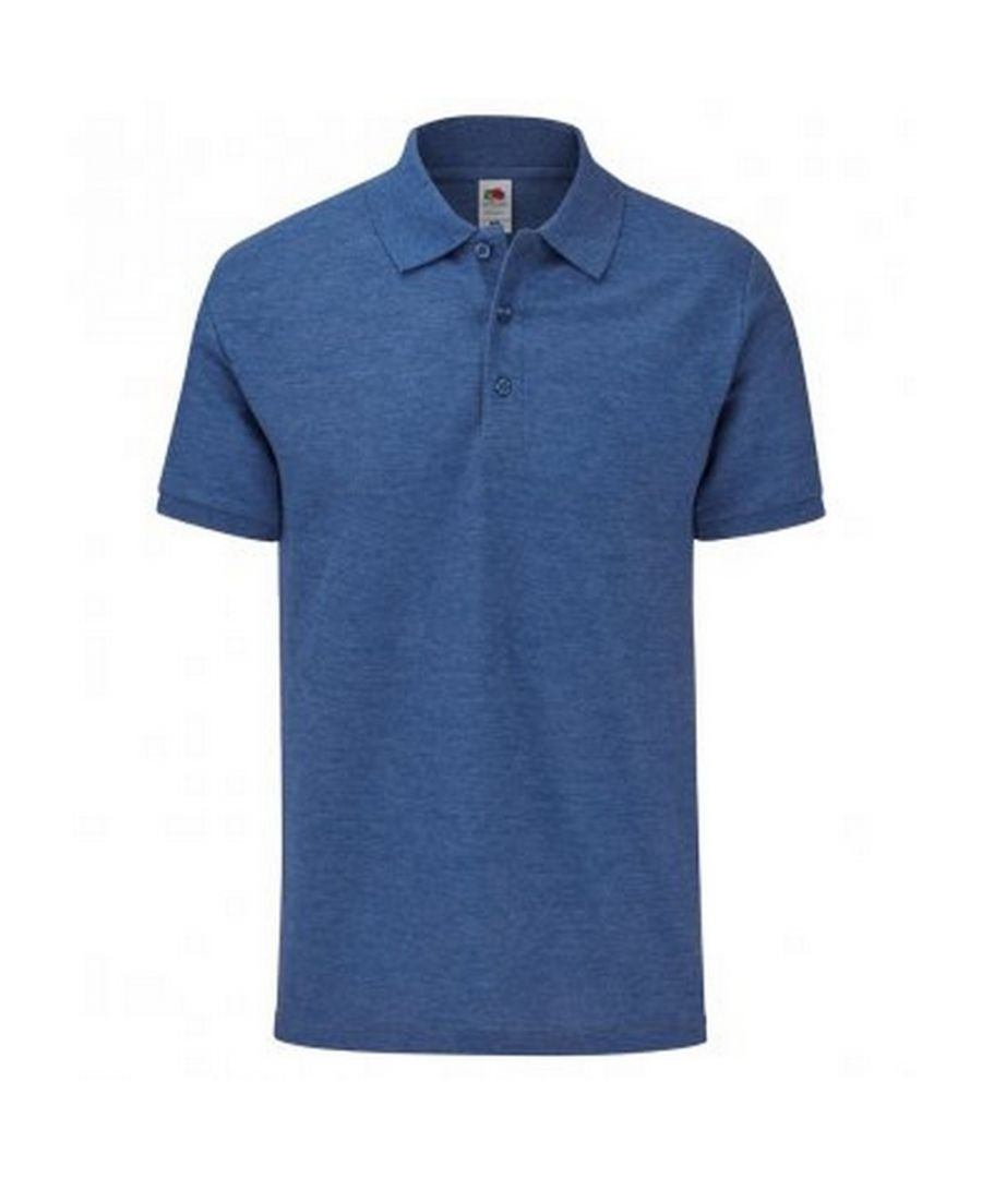 Image for Fruit Of The Loom Mens Tailored Poly/Cotton Piqu Polo Shirt