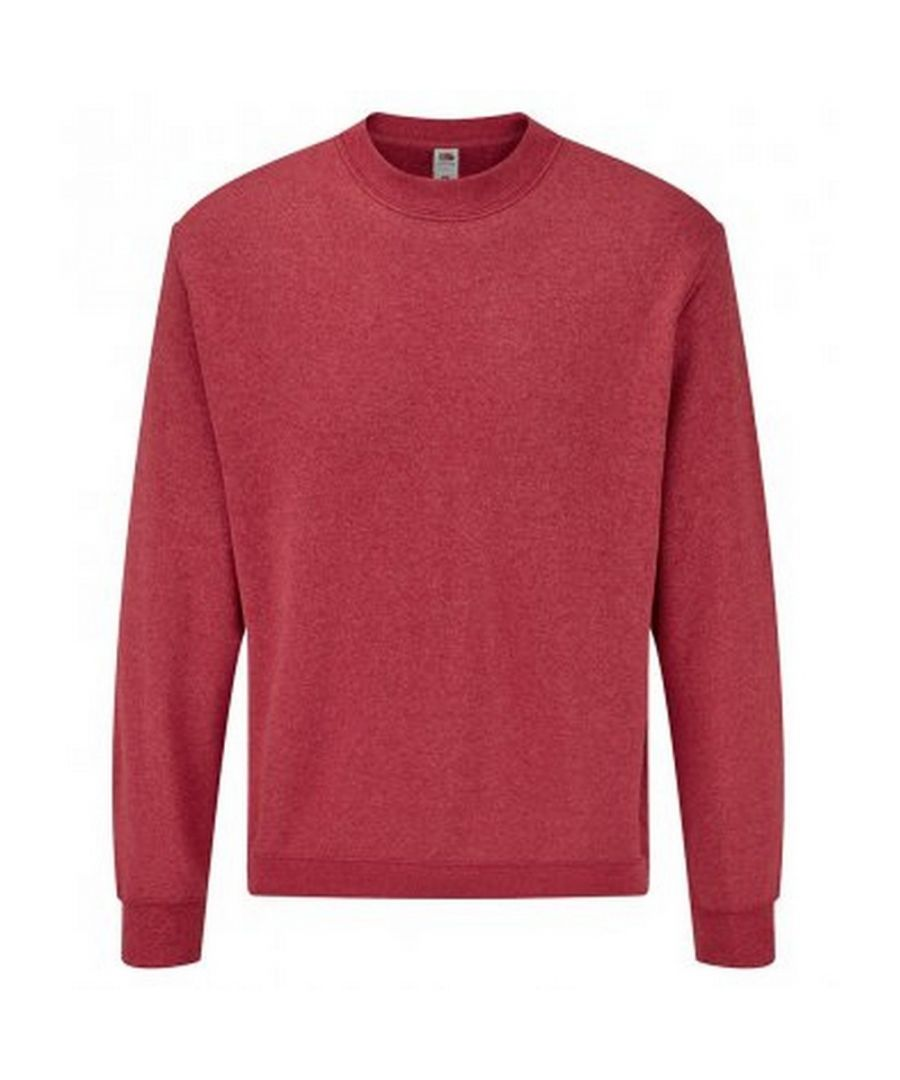 Image for Fruit Of The Loom Mens Classic Drop Shoulder Sweatshirt (Heather Red)