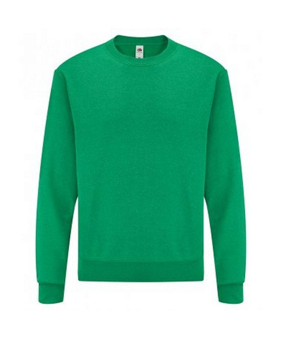Image for Fruit Of The Loom Mens Classic Drop Shoulder Sweatshirt (Heather Green)