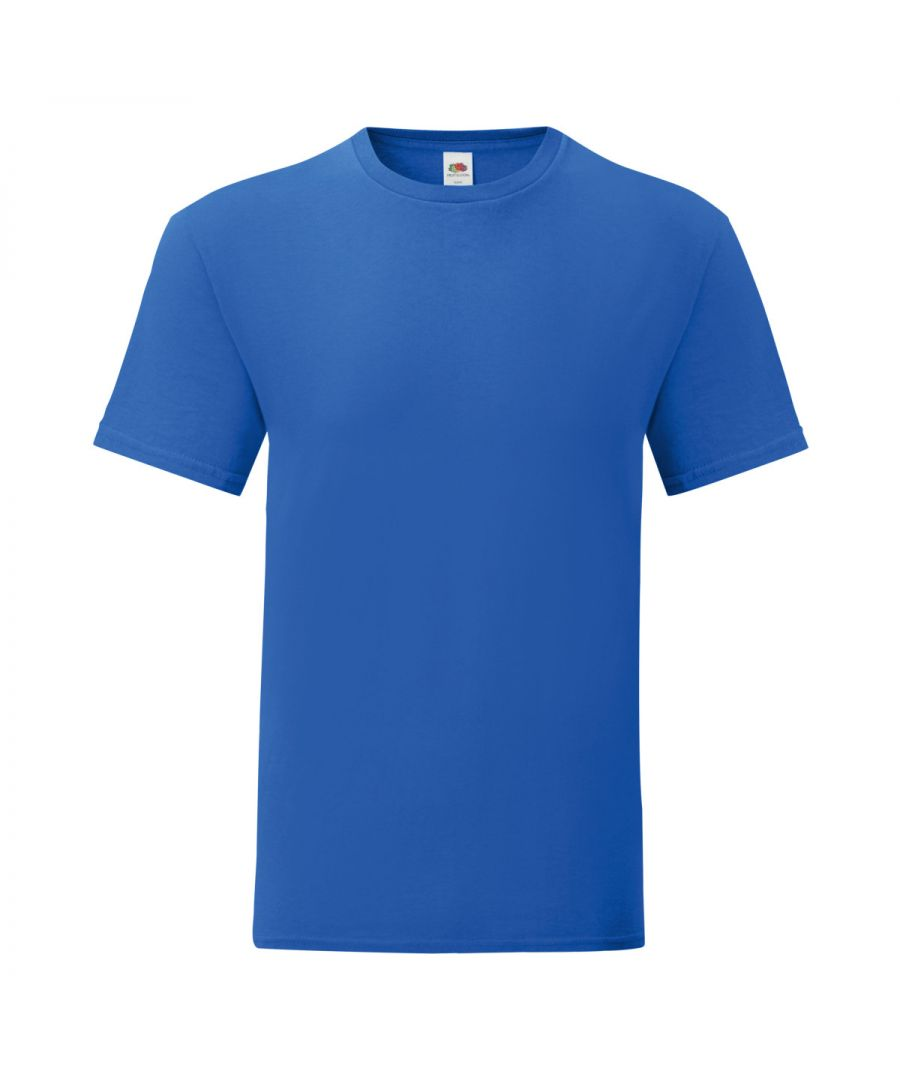Image for Fruit Of The Loom Mens Iconic T-Shirt (Pack of 5) (Royal Blue)