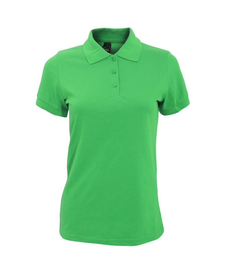 Image for SOLs Womens/Ladies Prime Pique Polo Shirt (Kelly Green)