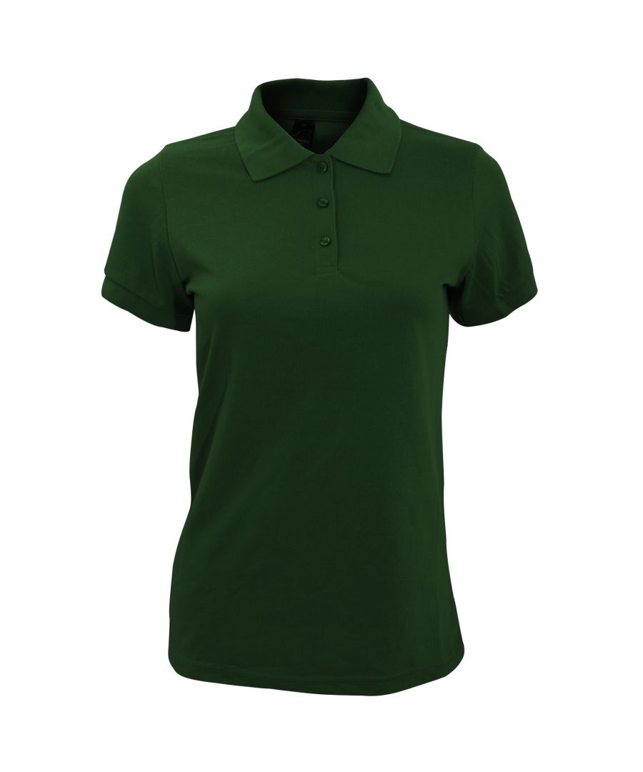 Image for SOLs Womens/Ladies Prime Pique Polo Shirt (Bottle Green)