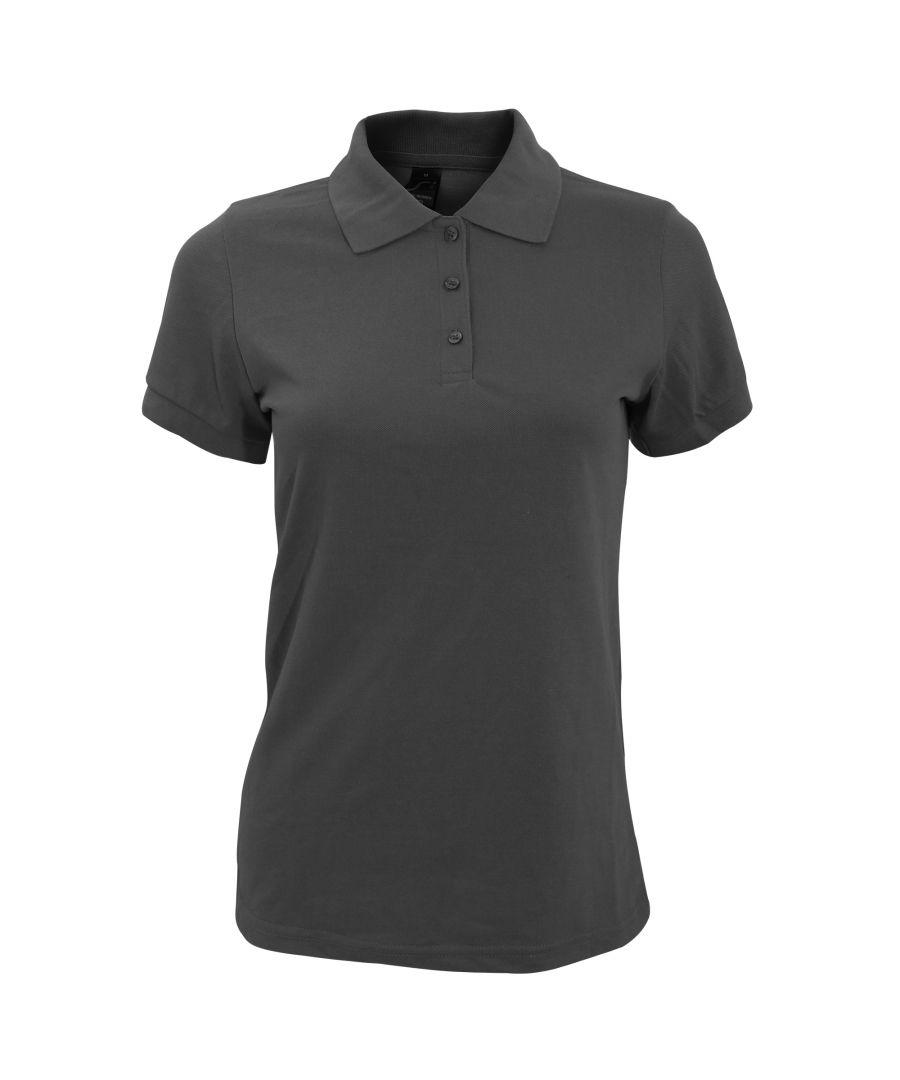 Image for SOLs Womens/Ladies Prime Pique Polo Shirt (Dark Grey)
