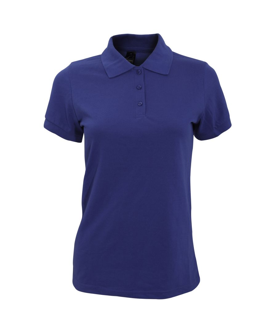 Image for SOLs Womens/Ladies Prime Pique Polo Shirt (French Navy)