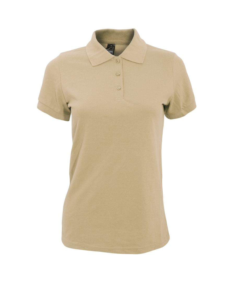 Image for SOLs Womens/Ladies Prime Pique Polo Shirt (Sand)