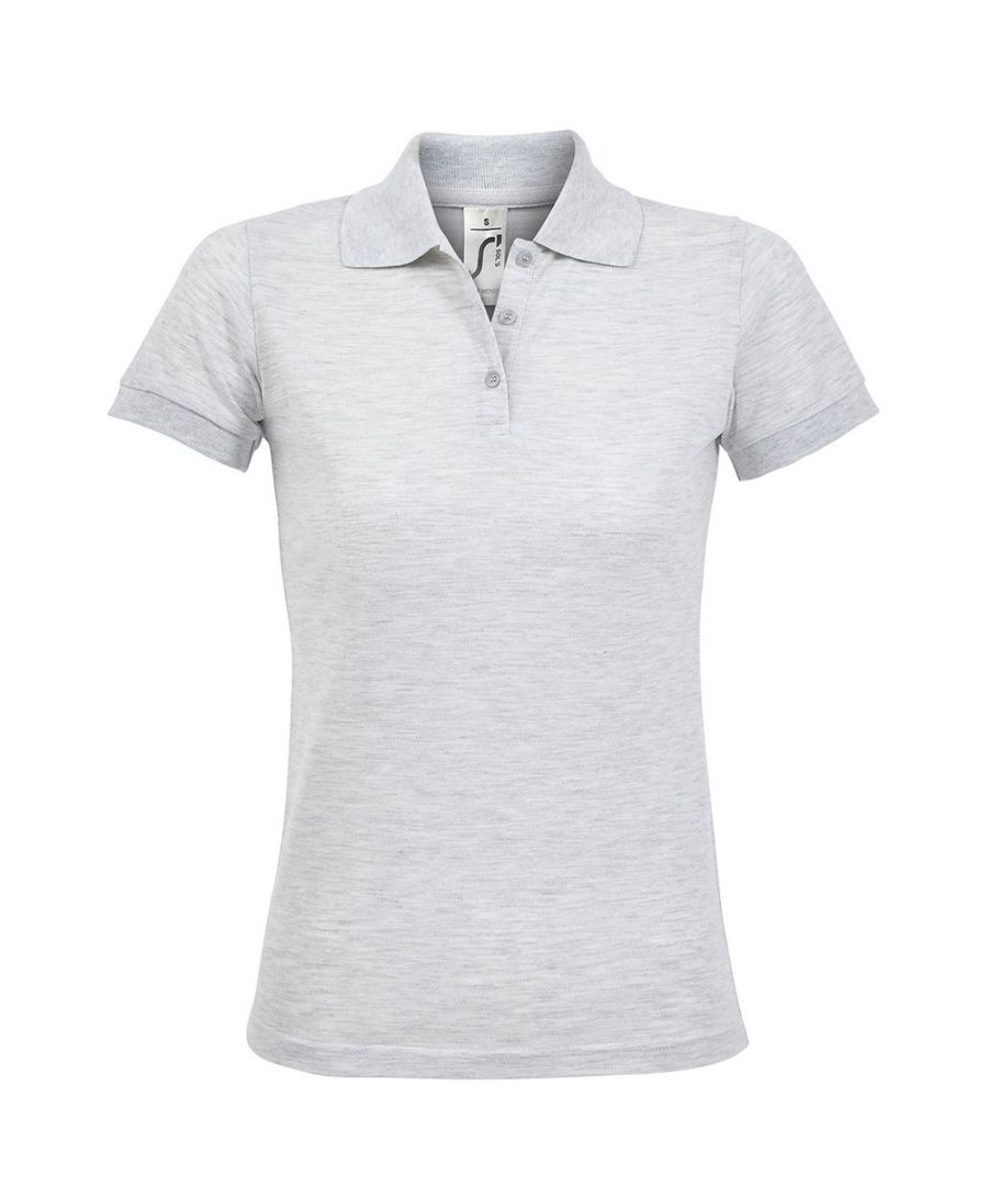 Image for SOLs Womens/Ladies Prime Pique Polo Shirt (Ash)