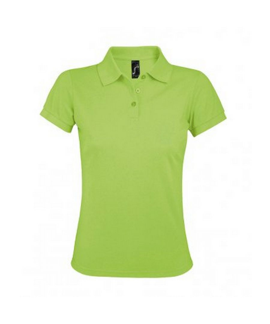Image for SOLs Womens/Ladies Prime Pique Polo Shirt (Apple Green)