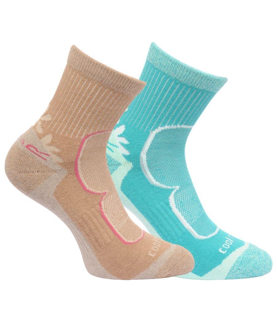 Image for Regatta Great Outdoors Womens/Ladies Active Lifestyle Walking Socks (2 Pack)