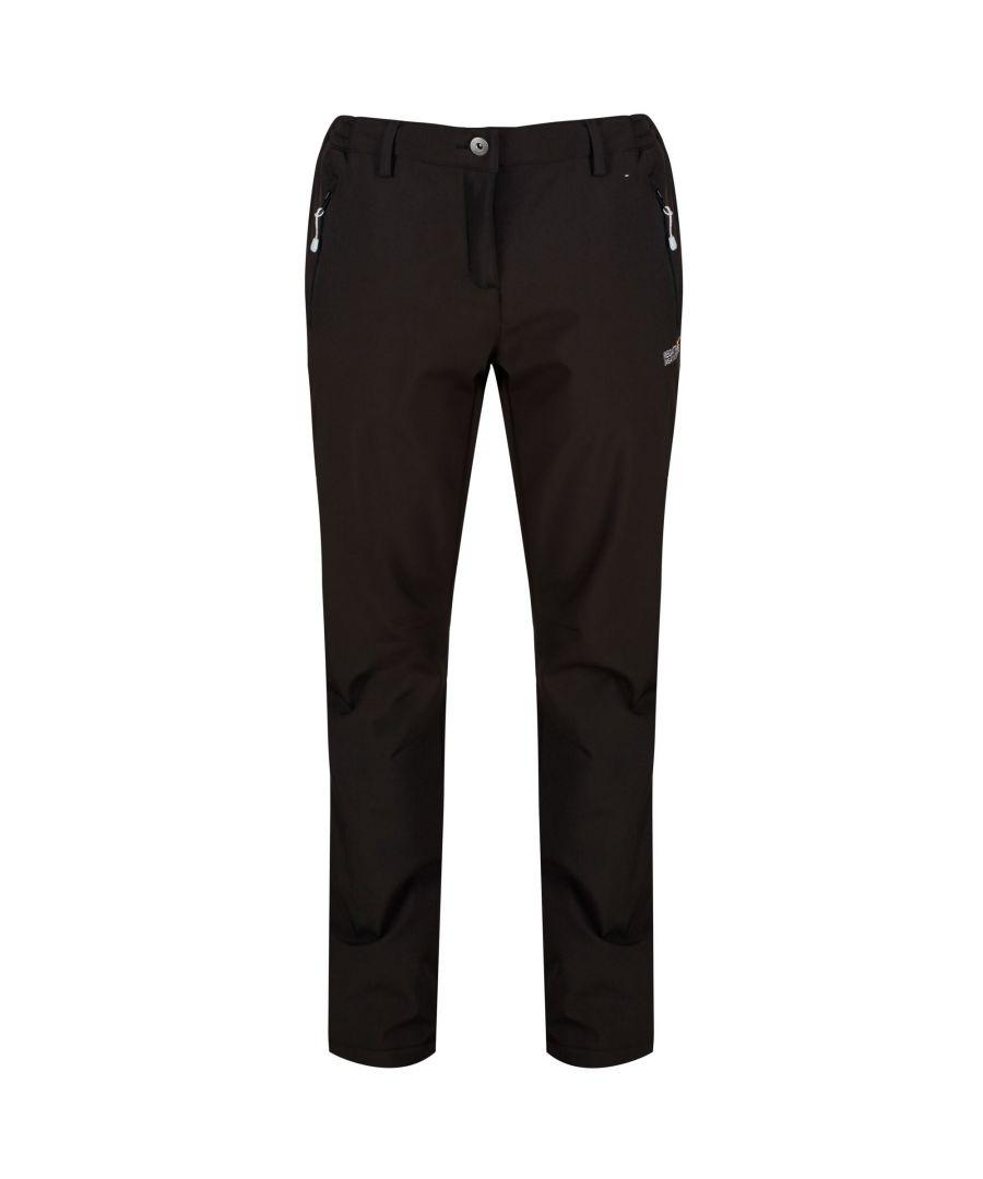 Image for Regatta Great Outdoors Womens/Ladies Geo Softshell II Long Leg Trousers