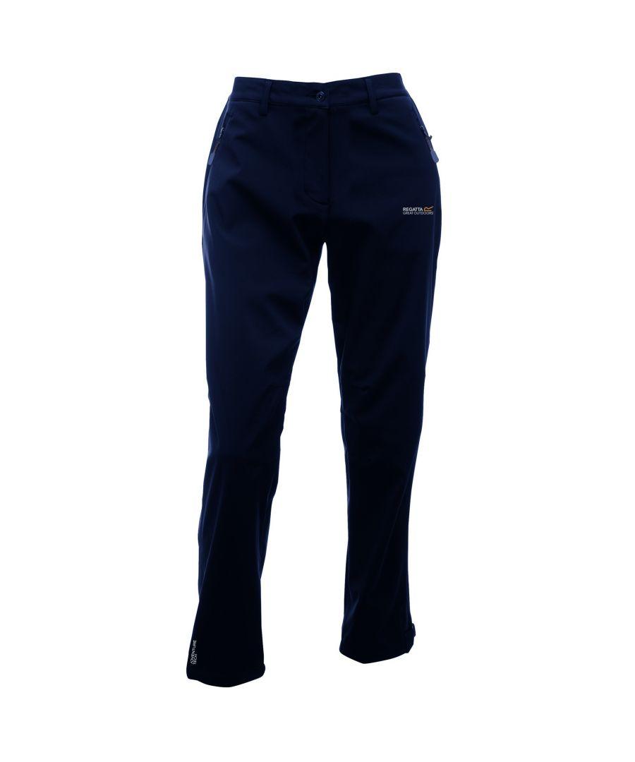 Image for Regatta Great Outdoors Womens/Ladies Geo Softshell II Short Leg Trousers