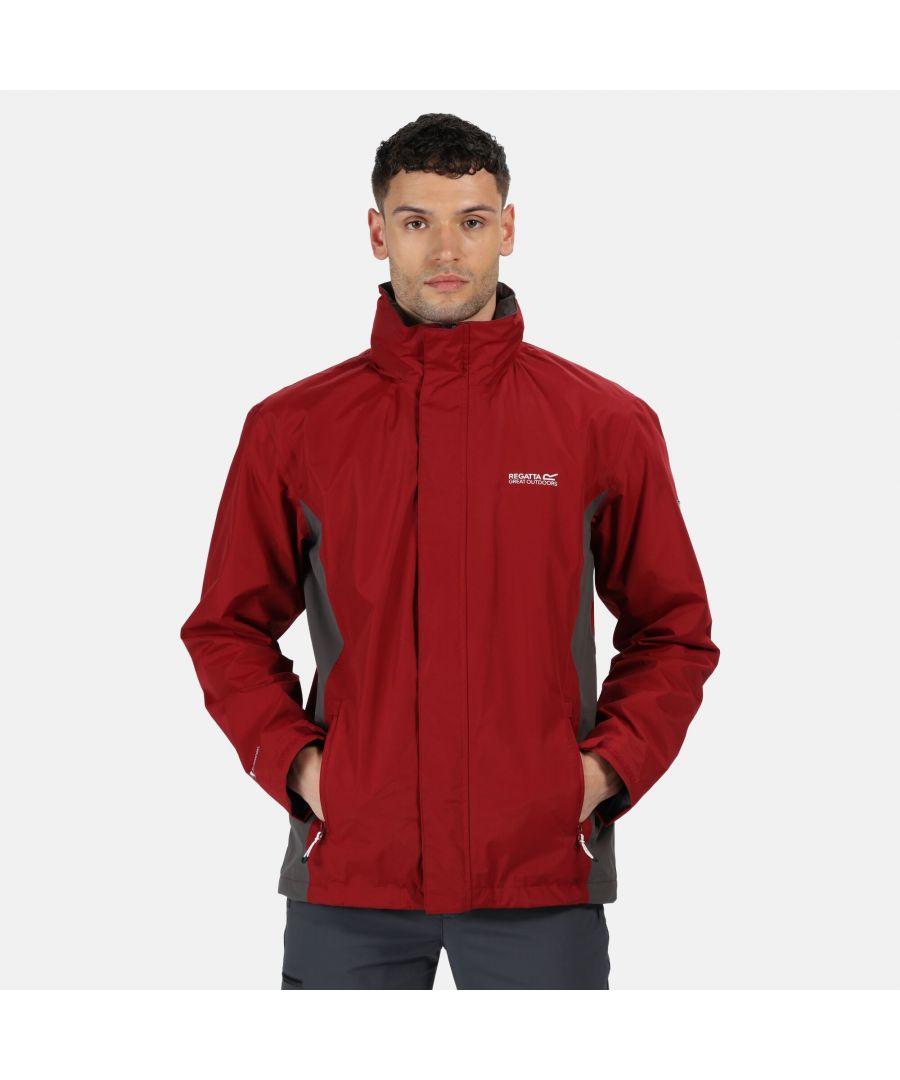Image for Regatta Great Outdoors Mens Jessup Waterproof Jacket (Delhi Red/Magnet Grey)