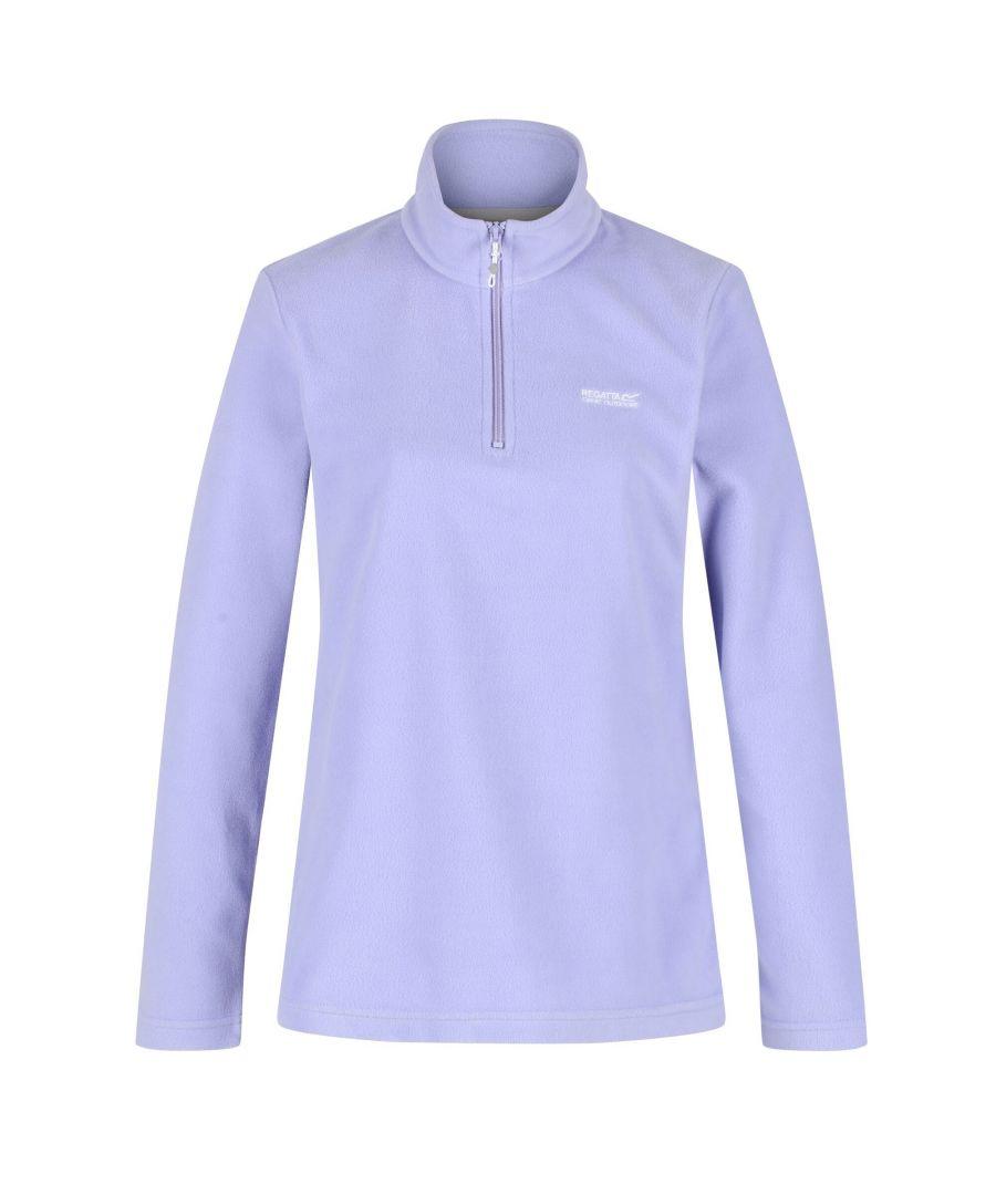 Image for Regatta Great Outdoors Womens/Ladies Sweetheart 1/4 Zip Fleece Top (Lilac)
