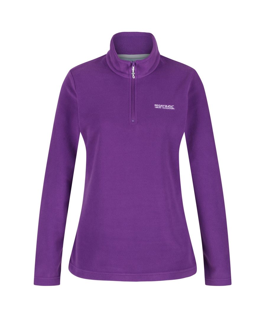 Image for Regatta Great Outdoors Womens/Ladies Sweetheart 1/4 Zip Fleece Top (Plum Wine)
