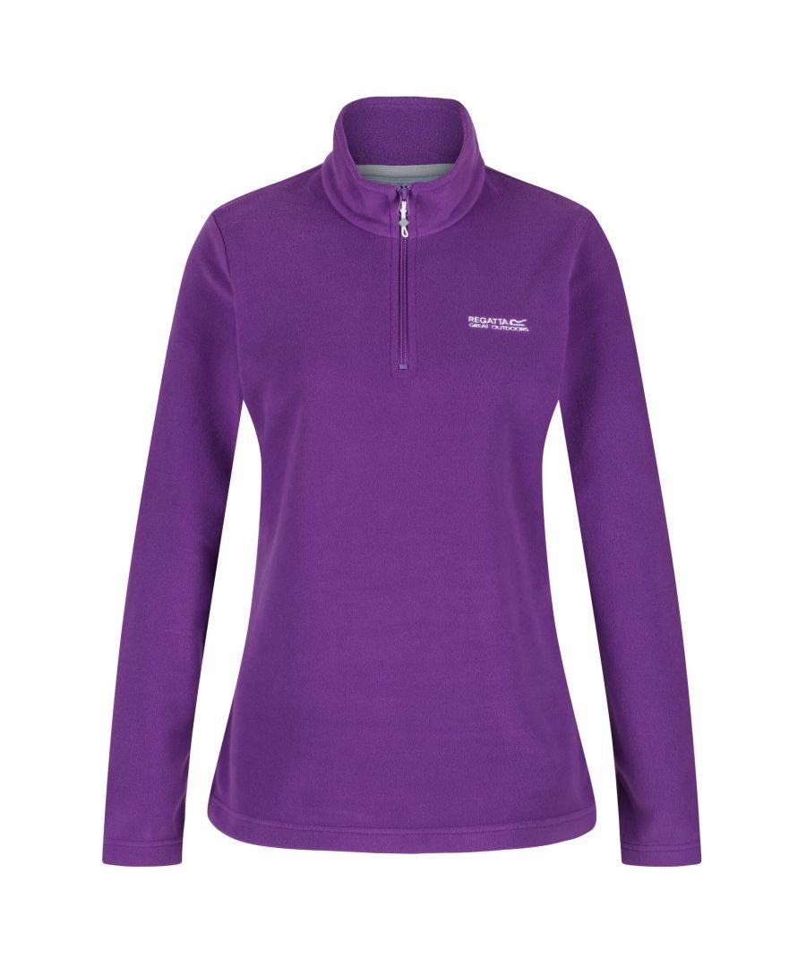 Image for Regatta Great Outdoors Womens/Ladies Sweetheart 1/4 Zip Fleece Top (Plum Wine)