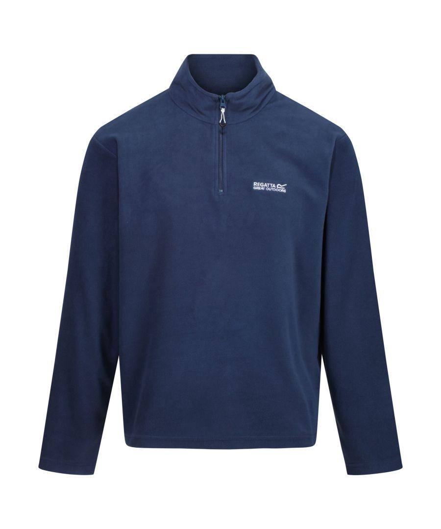 Image for Regatta Great Outdoors Mens Thompson Half Zip Fleece Top (Brunswick Blue)