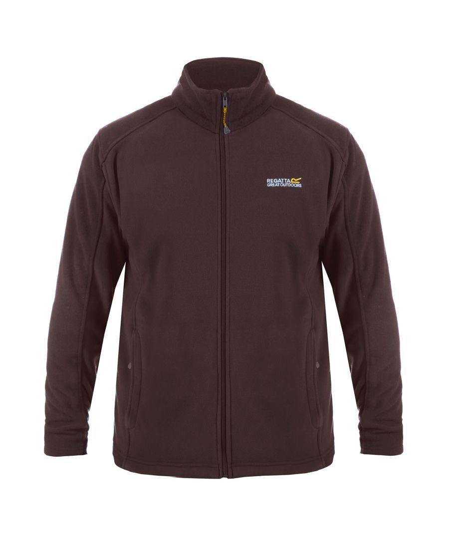 Image for Regatta Great Outdoors Mens Hedman II Two Tone Full Zip Fleece Jacket (Delhi Red)
