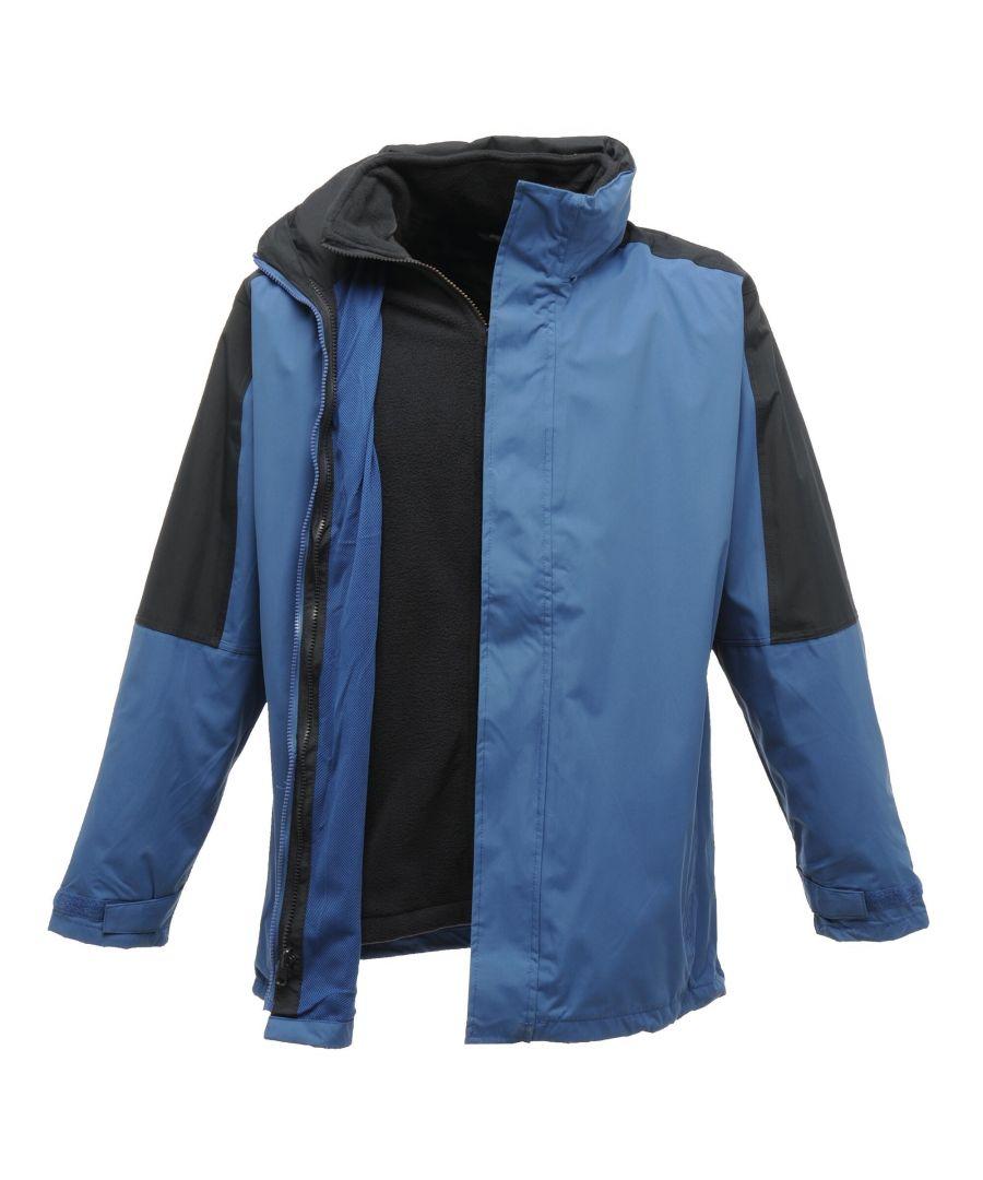 Image for Regatta Mens Defender III 3-in-1 Waterproof Windproof Jacket / Performance Jacket (Royal Blue/Navy)