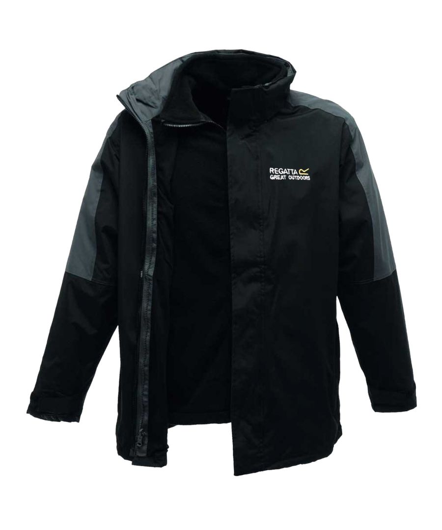 Image for Regatta Mens Defender III 3-in-1 Waterproof Windproof Jacket / Performance Jacket