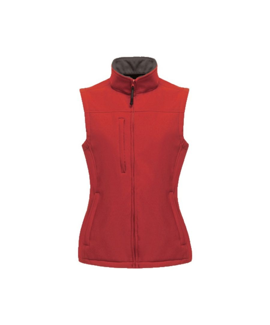 Image for Regatta Womens/Ladies Flux Softshell Bodywarmer / Sleeveless Jacket (Water Repellent & Wind Resistant) (Classic Red)