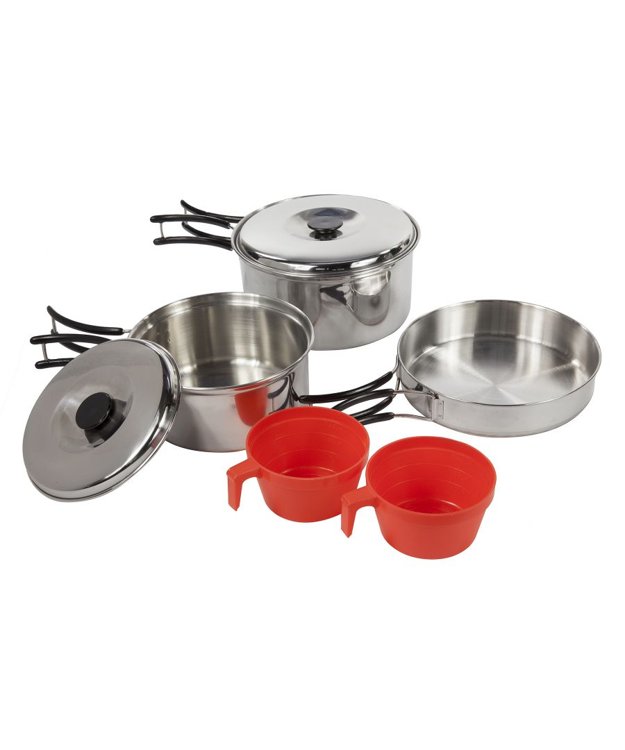 Image for Regatta Great Outdoors Compact Steel Camping Cooking Set