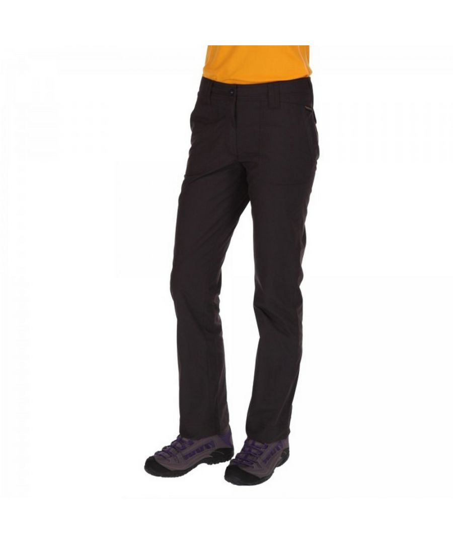 Image for Regatta Great Outdoors Womens/Ladies Delph Showerproof Trousers