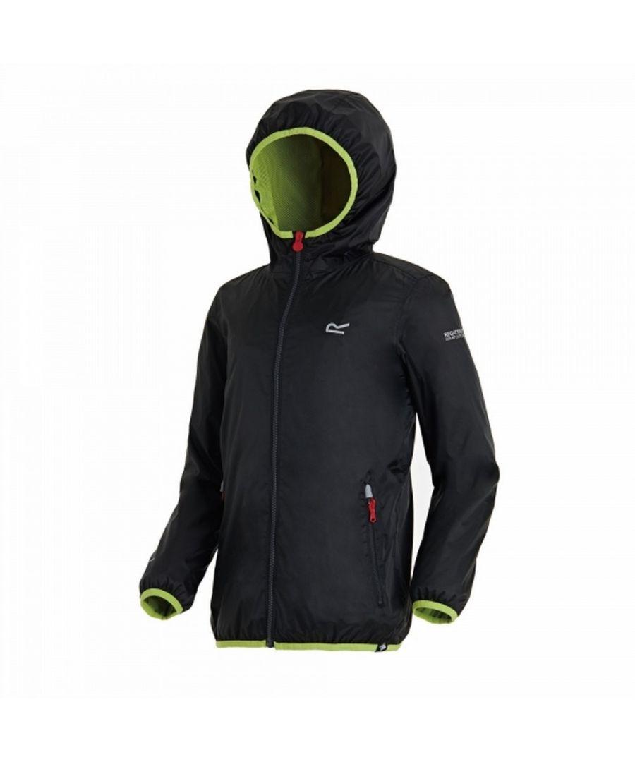 Image for Regatta Great Outdoors Childrens/Kids Lever II Packaway Rain Jacket