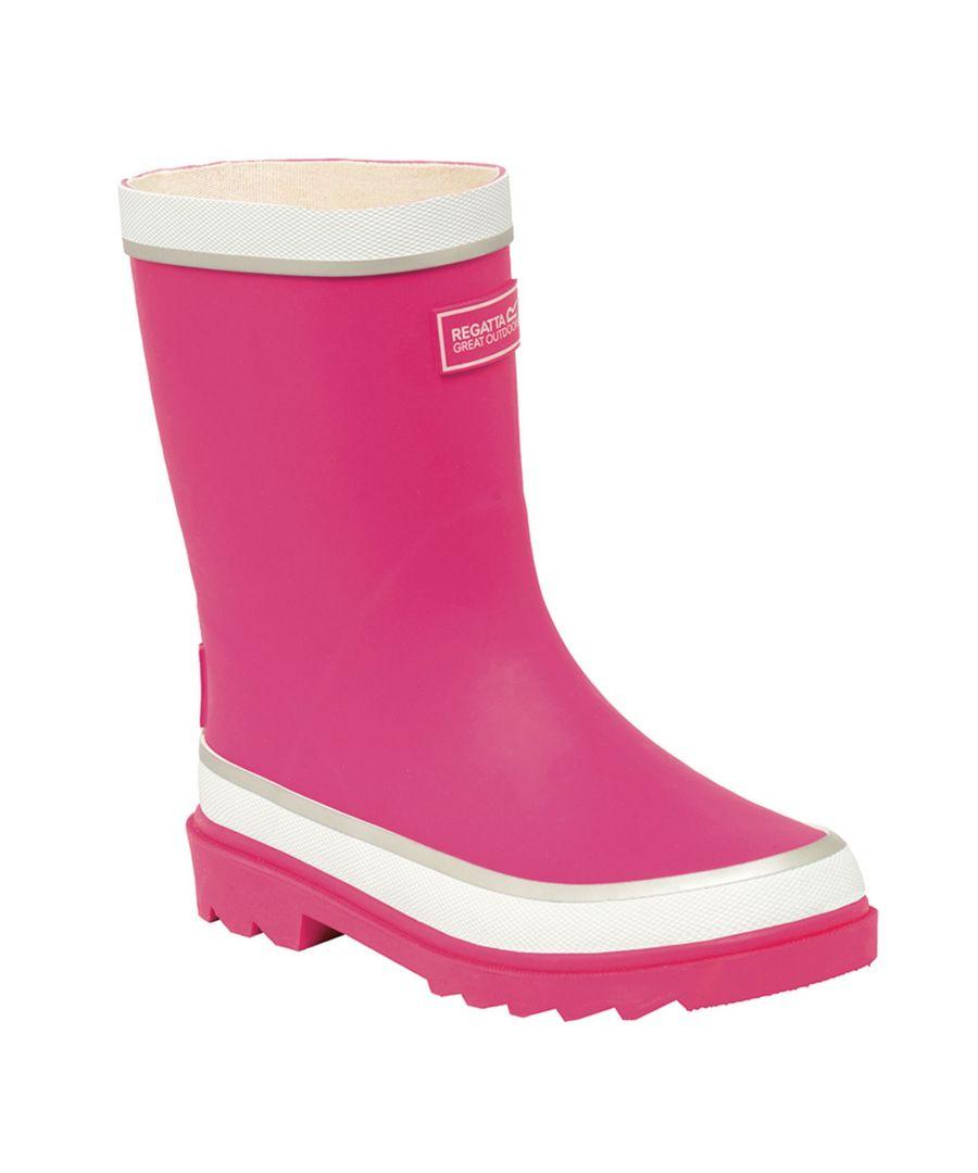 Image for Regatta Great Outdoors Childrens/Kids Foxfire Wellington Boots (Jem/White)