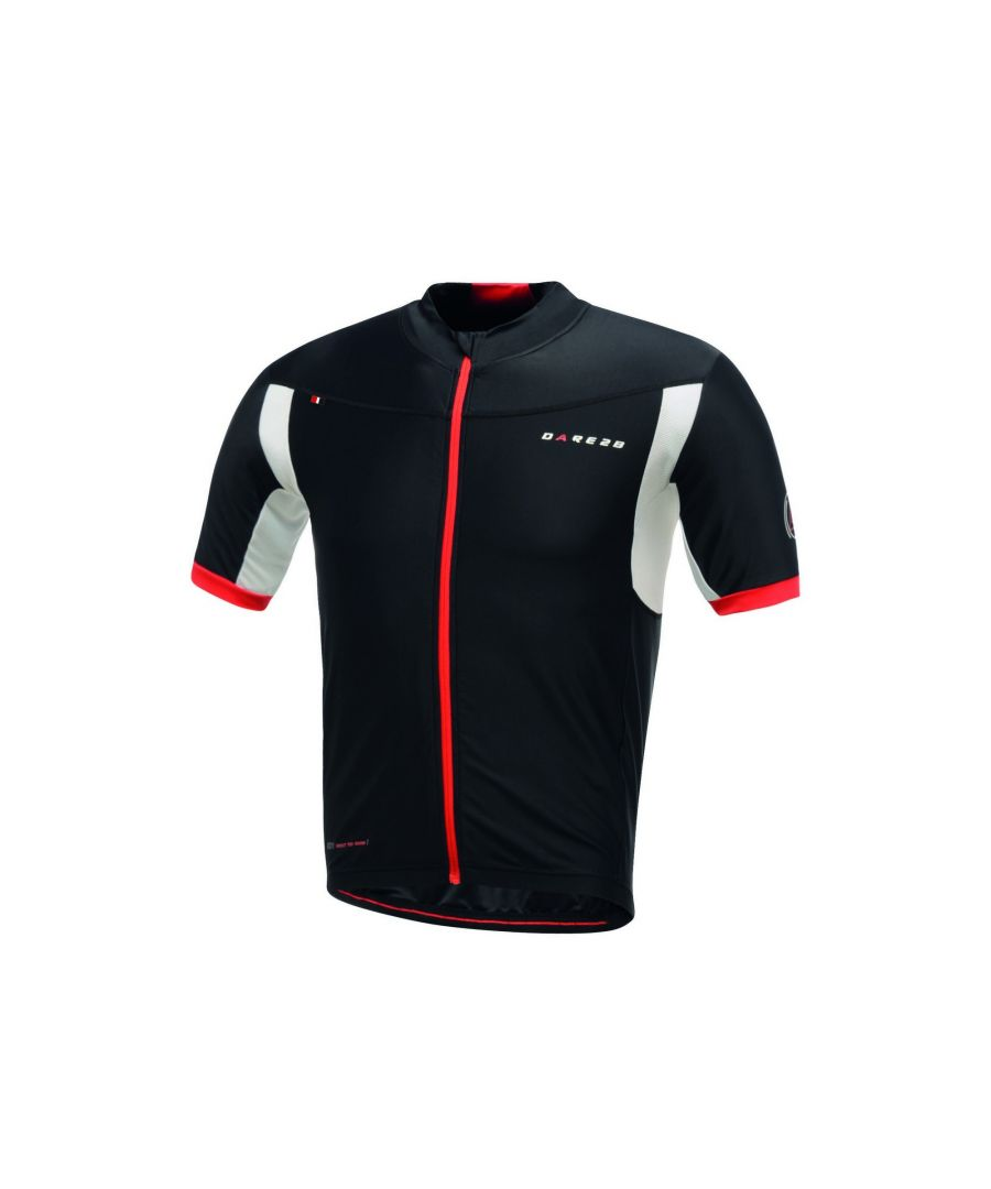 Image for Dare 2B Mens Oscar Pereiro AEP Rouleur Full Zip Short Sleeve Cycle Jersey