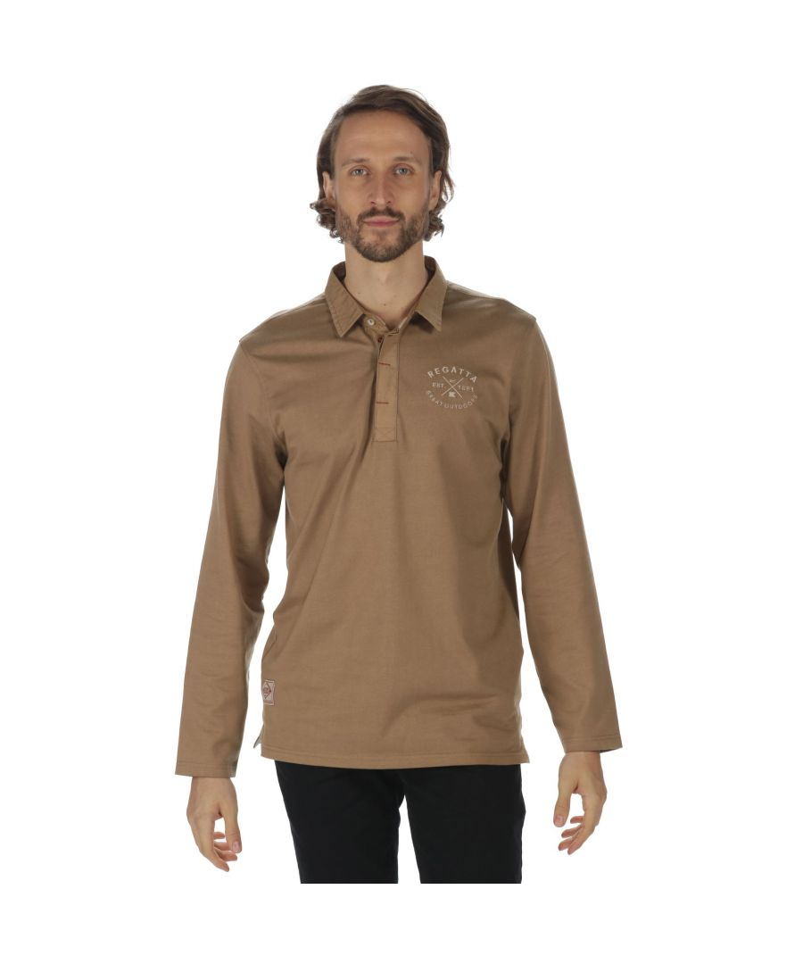 Image for Regatta Great Outdoors Mens Pierce Long Sleeve Rugby Style Shirt