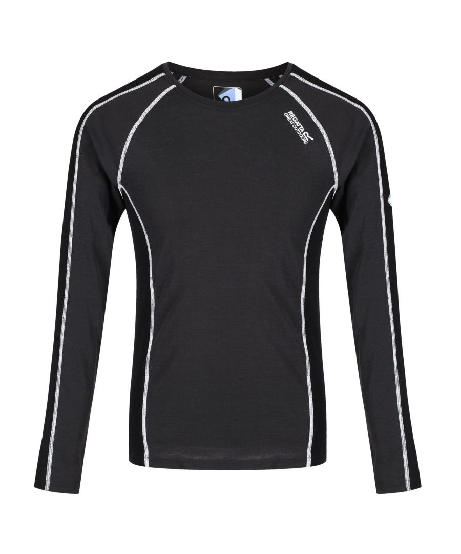 Image for Regatta Great Outdoors Mens Beru Base Layer Shirt (Ash/Black)