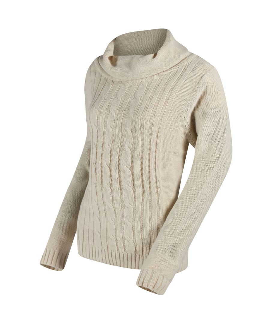 Image for Regatta Great Outdoors Womens/Ladies Karlee Cowl Neck Cable Knit Sweater