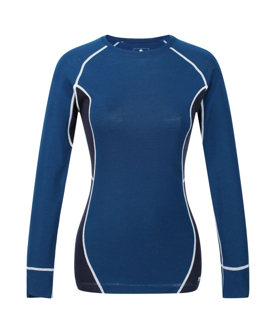 Image for Regatta Great Outdoors Womens/Ladies Beru Base Layer Top (Blue Opal/Navy)