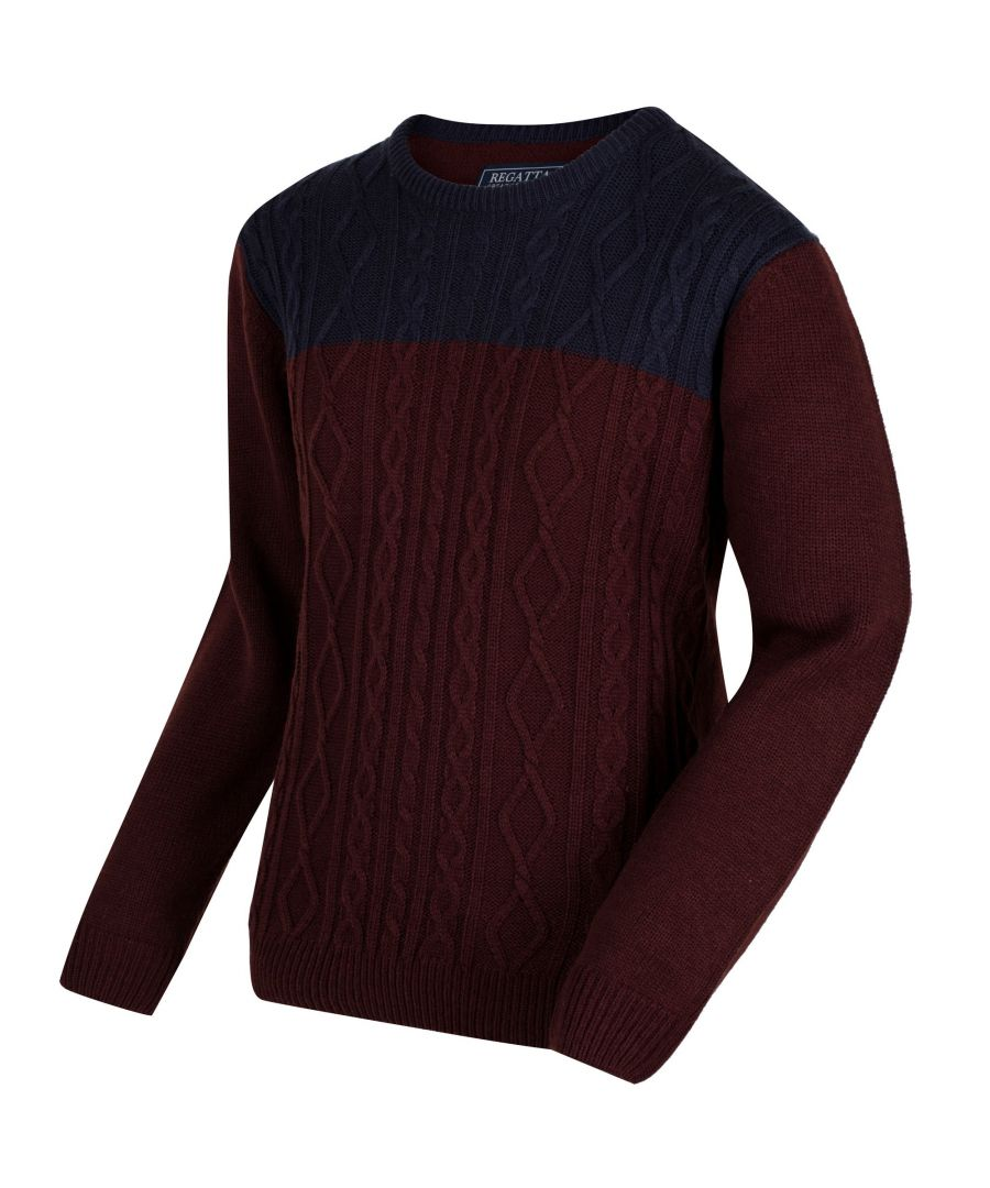 Image for Regatta Mens Koby Mid Weight Cable Knit Sweater