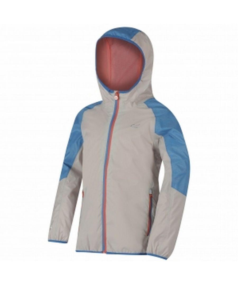 Image for Regatta Great Outdoors Childrens/Kids Teega Reflective Waterproof Hooded Jacket