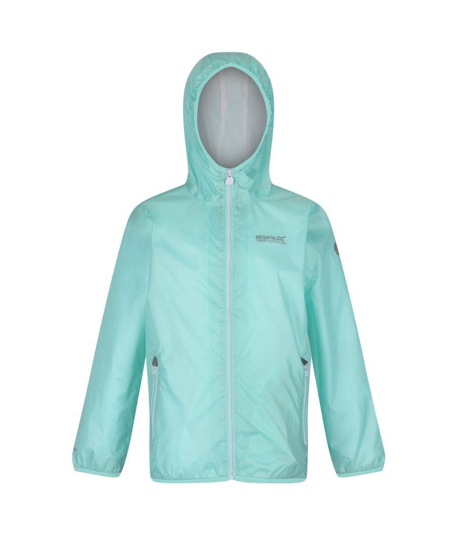 Image for Regatta Great Outdoors Childrens/Kids Pack It Jacket III Waterproof Packaway Black (Cool Blue)