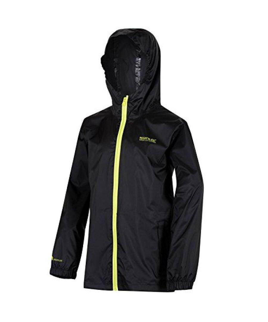Image for Regatta Great Outdoors Childrens/Kids Pack It Jacket III Waterproof Packaway Black