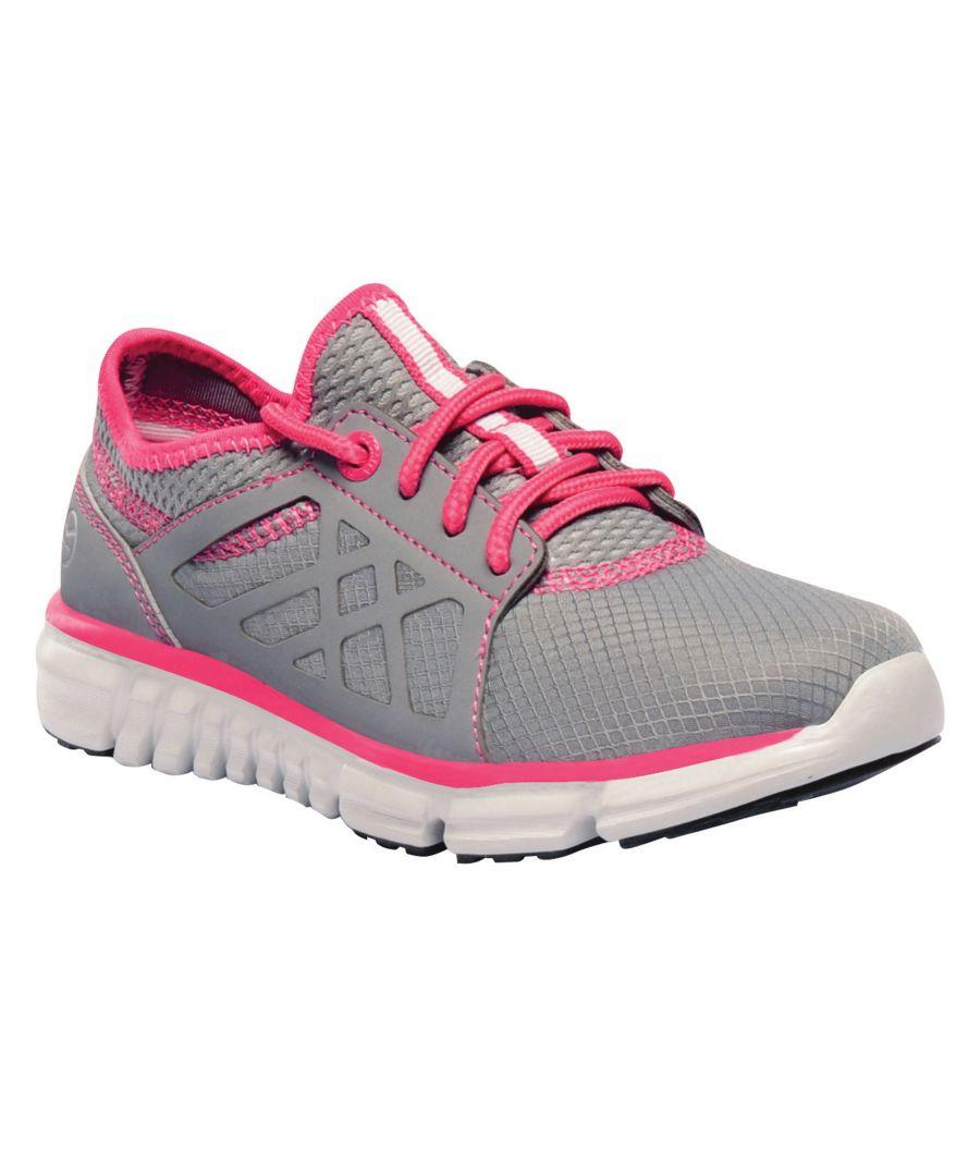Image for Regatta Childrens/Kids Marine Sport Walking Shoes (Rock Grey/Hot Pink)