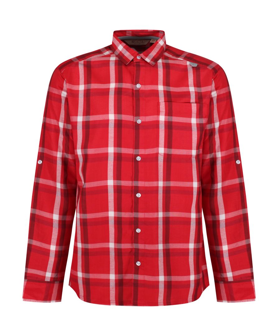 Image for Regatta Mens Mindano Checked Long Sleeve Shirt