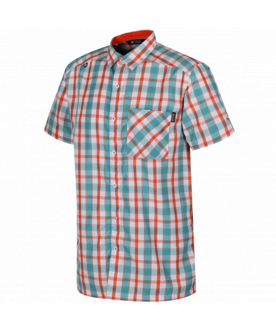 Image for Regatta Mens Mindano III Checked Short Sleeve Shirt