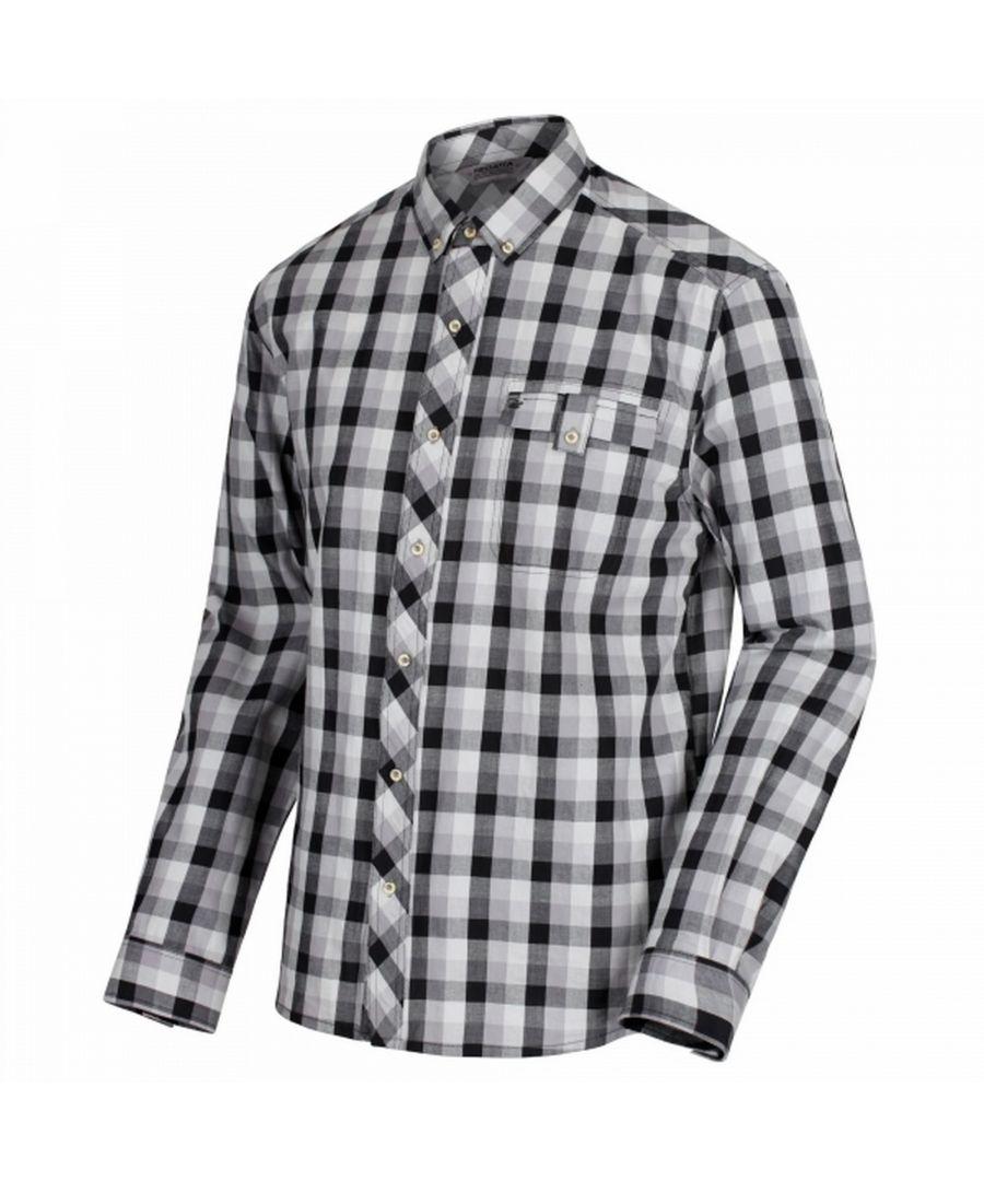 Image for Regatta Mens Lothar Long Sleeved Check Patterned Shirt