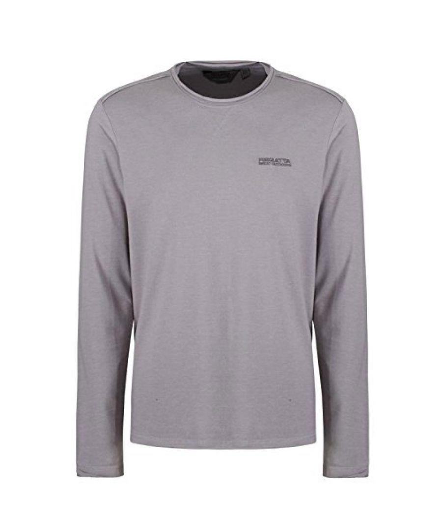 Image for Regatta Mens Karter Long Sleeved T-Shirt